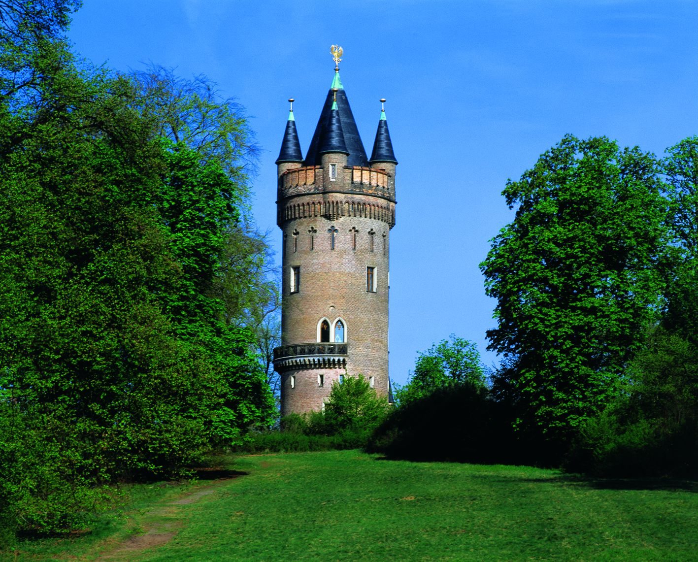 flatowturm im park babelsberg landeshauptstadt potsdam. Black Bedroom Furniture Sets. Home Design Ideas